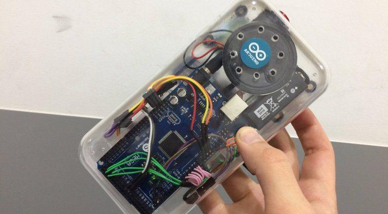 DIY Drum Machine Game Boy Taschenrechner Back
