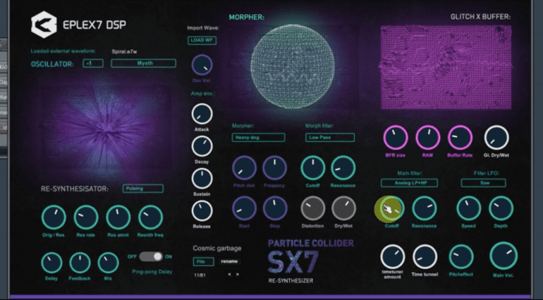 Eplex7 DSP Particle Collider SX7 - Sci-Fi, Aliens, Drones und mehr in einem VST-Plug-in
