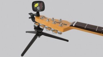 Ernie Ball CradleTune Clip On Tuner Stativ Front Gitarre Klein Teaser