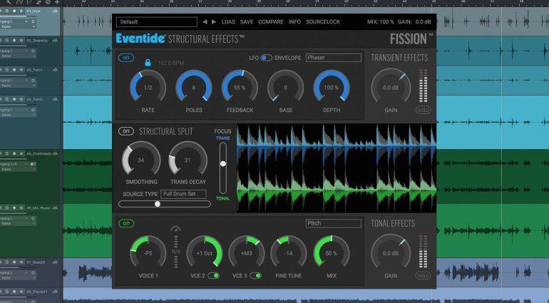 Eventide Fission Plug-in GUI Studio One