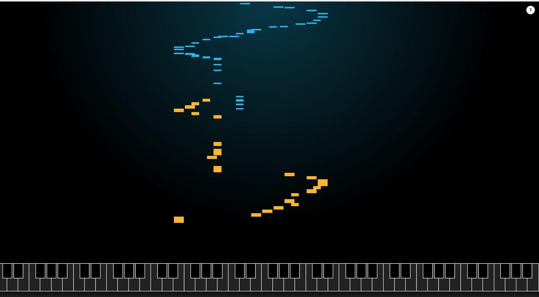 Google AI Experiment Duett MIDI Klavier