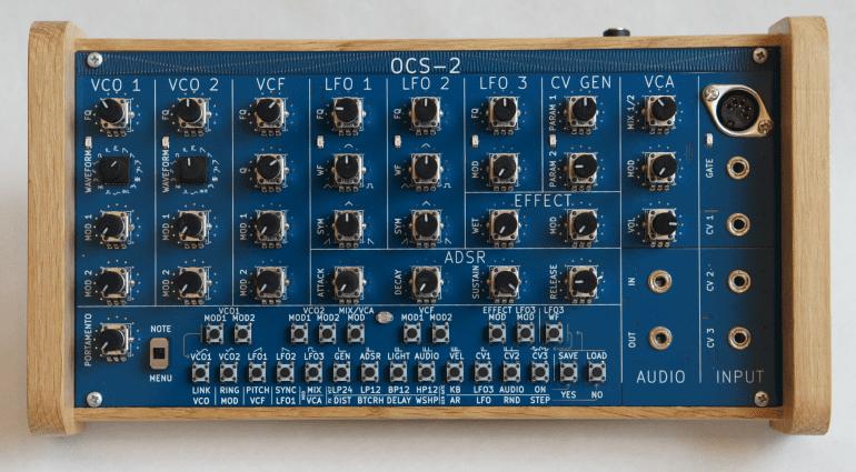 Nozoid OCS-2 - semi-modularer subtraktiver Arduino Synthesizer mit Moog Filter
