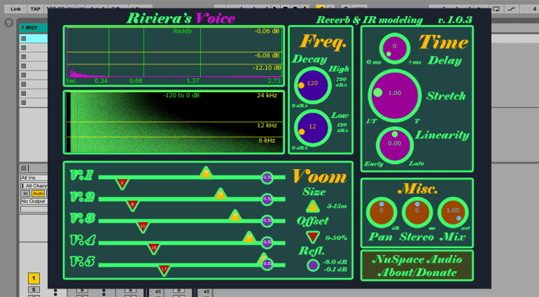 NuSpace Audio Riviera - kostenloses hybrides algorithmisches Convolution Reverb