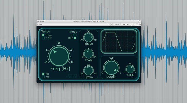 Pecheneg FX Tremolo Plug-in Effekt GUI Reaper Waveform Freq Mode