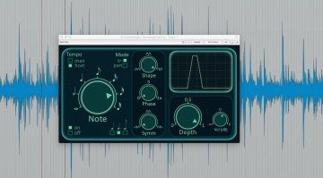 Pecheneg FX Tremolo Plug-in Effekt GUI Reaper Waveform Note Mode
