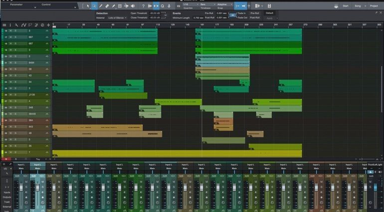 Presonus Studio One 3 GUI