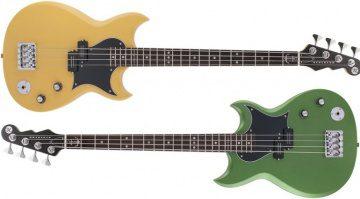 Reverend Mike Watt Wattplower Signature Sensei E-Bass Front Green Yellow