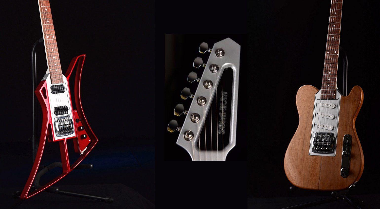 Somnium Guitars Modular E-Gitarre Telecaster Explorer Headstock Zusammengebaut