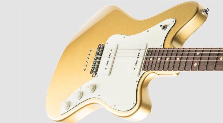 Suhr Classic JM Pro Offset E-Gitarre gold Slant
