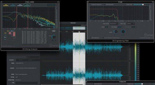 2nd Sense Audio Analyzer ReSample Plug-ins Front GUI