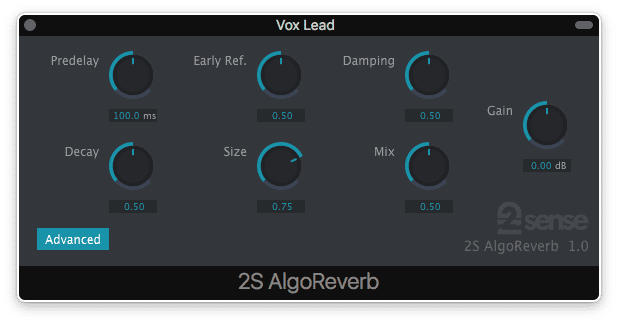 2nd Sense Audio AlgoReverb