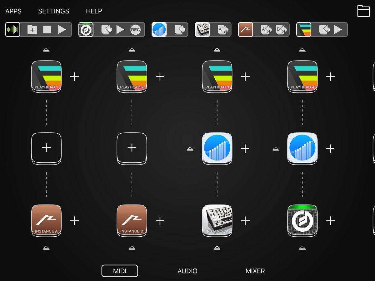 Audiobus 3 GUI