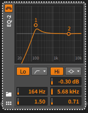 Bitwig High Pass Resonanzfilter EQ-2