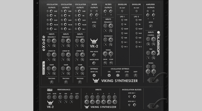 Blamsoft Inc. VK-2 Viking Synthesizer - ein Moog für Reason