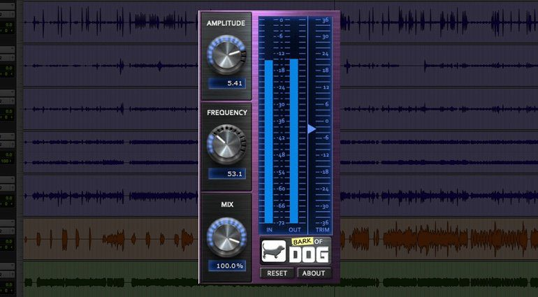 Boz digital Labs Bark Of Dog Freeware High Pass Resonanz Filter Plug-in GUI Pro Tools