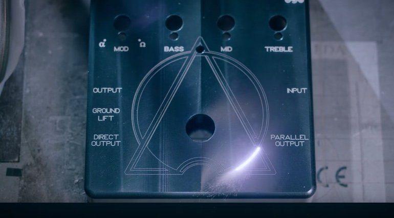 Darkglass Alpha-Omega Bass Preamp Distortion Pedal Front Laser