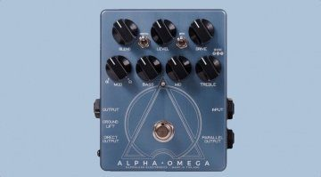 Darkglass Electronics Alpha Omega Preamp Overdrive Bass Pedal Front Teaser