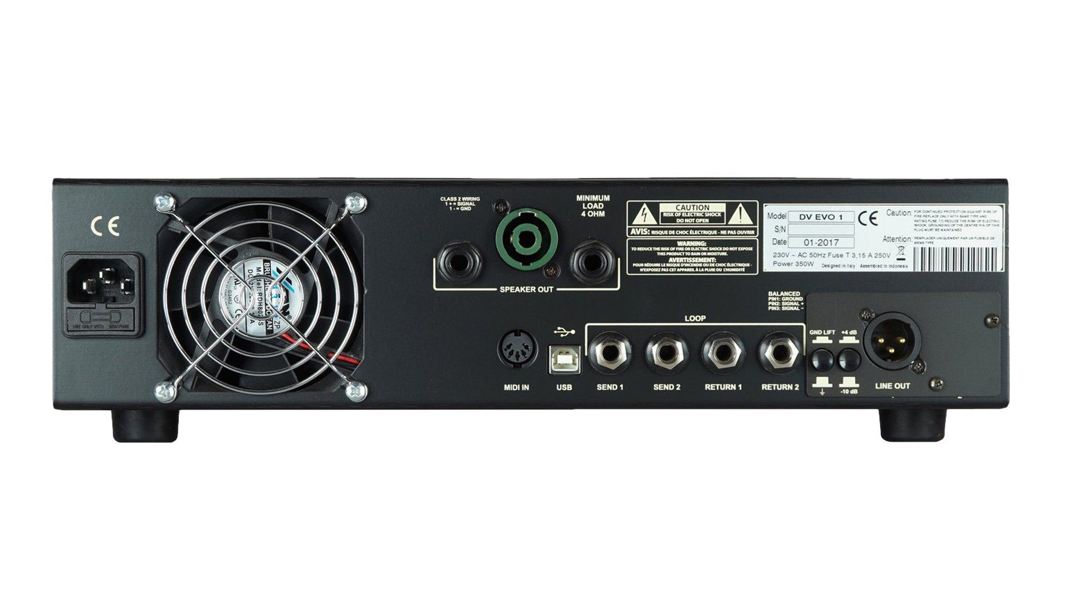 DV Mark Evo-1 Topteil Amp Back