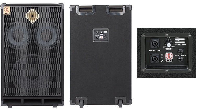Eden Amps P1510X 1x15 2x10 Bass Box Cabinet Front Back Panel