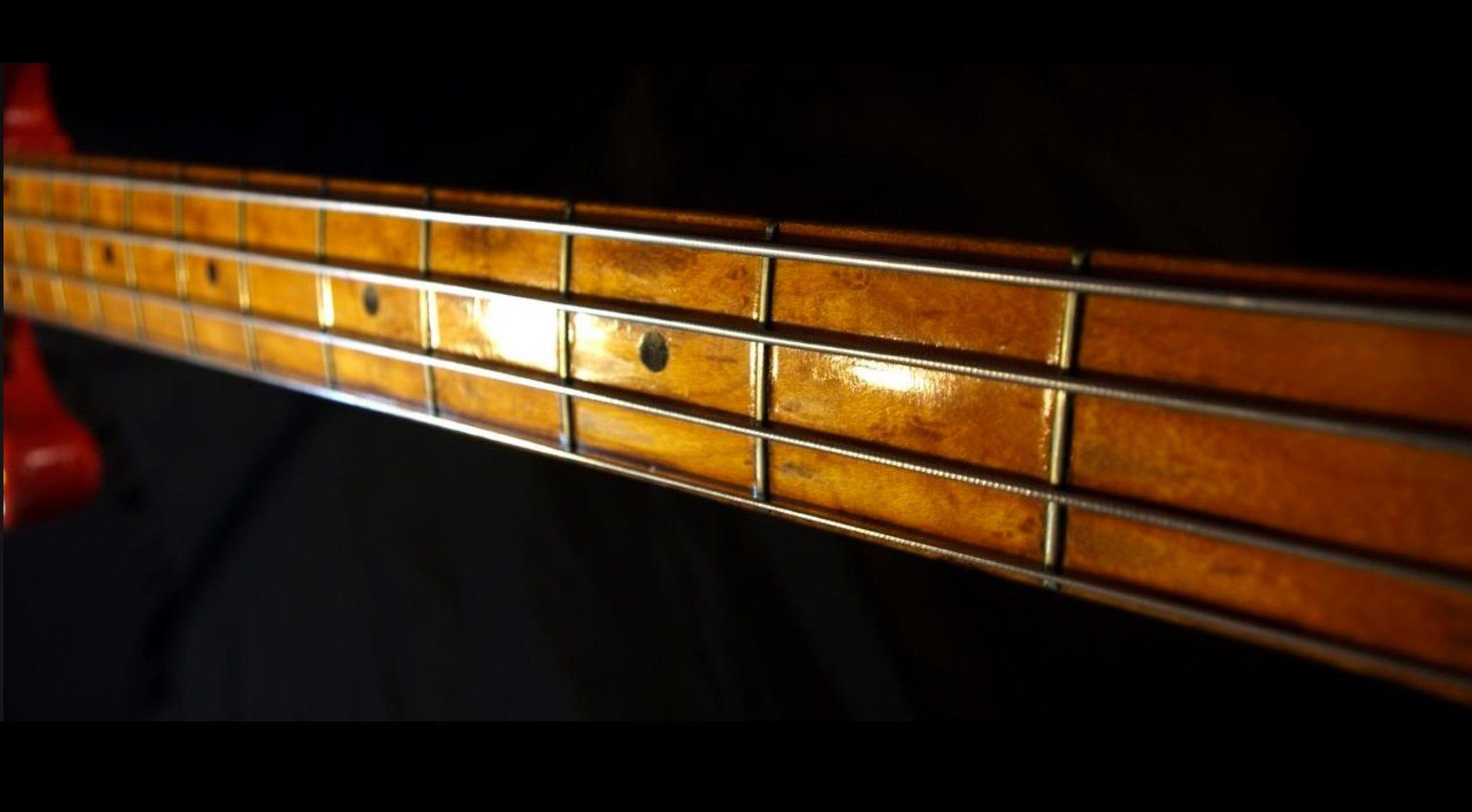 Fender 1955 Precision Bass Fullerton Red Hals Front