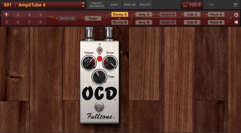IK Multimedia Fulltone Collection OCD Pedal GUI