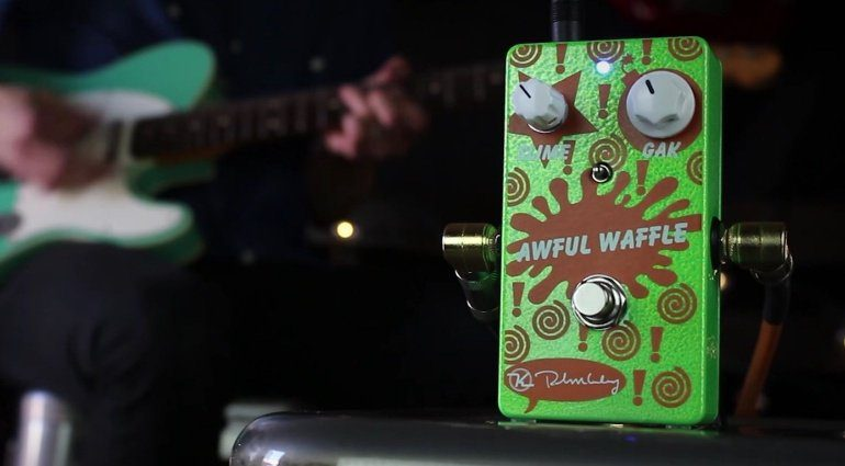 Keeley Awful Waffle Overdrive Treble Booster Fuzz Pedal Front