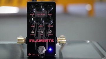 Keeley Filaments Pedal Overdrive Front Totale