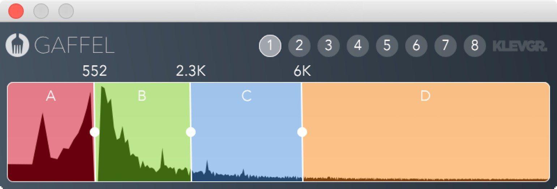 Klevgraend Gaffel Plug-in Effekt Multiband Splitter GUI HiRes