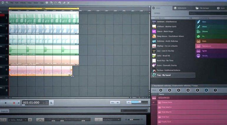 Magix Music Maker Free Version GUI
