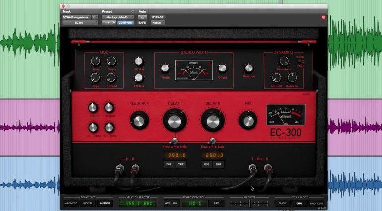McDSP EC-300 Echo Collection Delay Plug-in Effekt Analog
