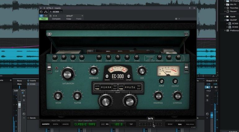 McDSP EC-300 Echo Collection Delay Plug-in Effekt Tape Magnetic