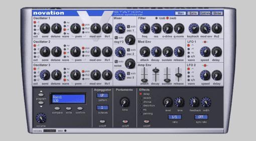 Novation-V-Station-Plugin-Instrument-Synthesizer-GUI
