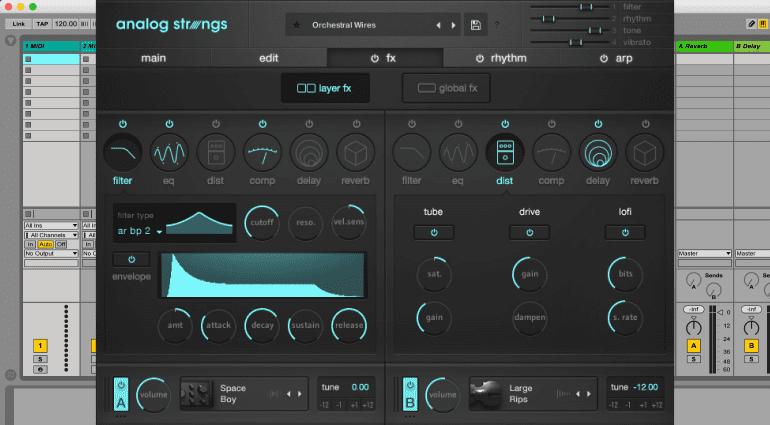 Output Analog Strings - virtuelle Streicher mit viel Modulation