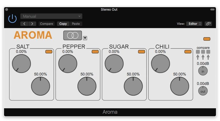 ploytec aroma plug-in saturation gui stereo