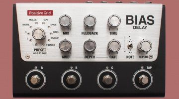 Positive Grid Bias Delay Hardware Modelling Pedal Front