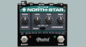 Radial Engineering North-Star Overdrive Booster Pedal Front Teaser