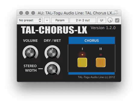 TAL Chorus Plug-in Freeware Tipp GUI