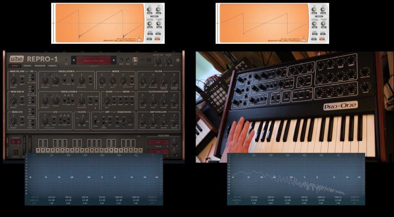 U-HE Sequential Circuits Repro-1 Pro One Vergleich Video Analyse