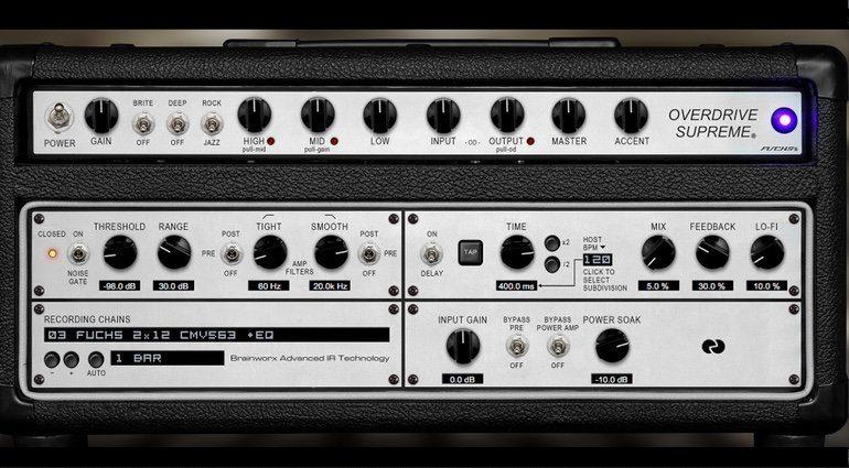 UAD 9_1 Fuchs Overdrive Amp GUI