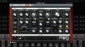 UAD 9_1 Moog Multimode Filter GUI