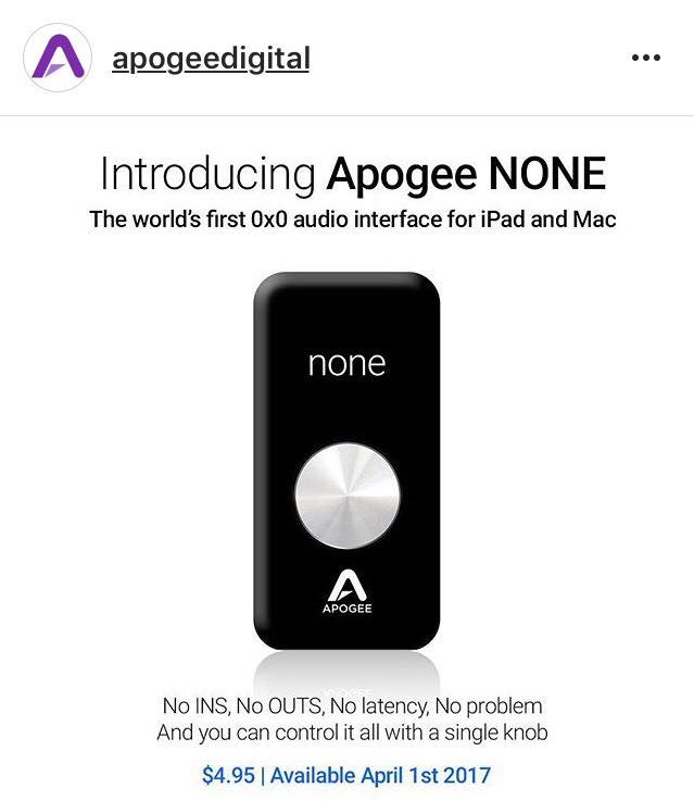 Apogee None Aprilscherz