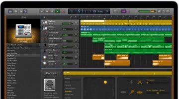 Apple GarageBand GUI Mac Book Pro