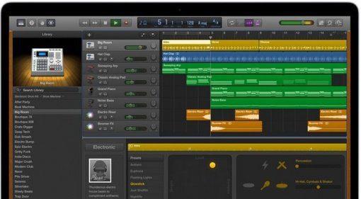 Apple GarageBand GUI Mac Book Pro