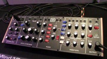 Behringer D-Synth Minimoog Klon Front Prototyp