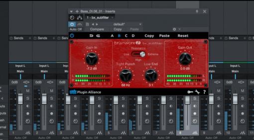 Brainworx bx_subfilter - der kostenlose Bass Enhancer aus dem bx_subsynth