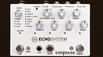 Empress Effects Echosystem Delay Pedal Front Teaser