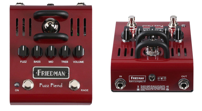 Friedman Fuzz Fiend Effekt Pedal Roehe 12AX7 Front Back