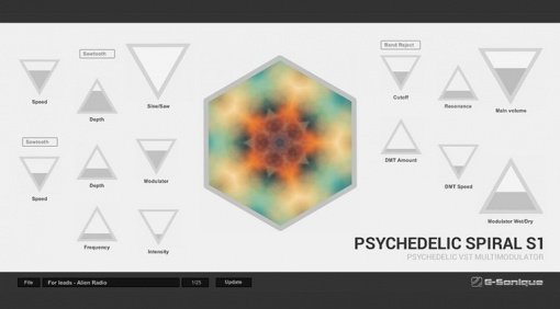 G-Sonique Psychedelic Spiral S1 Modulation Plug-in GUI