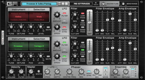 GForce Software Re-Strings - der legendäre all-in-one String-Synth für Reason