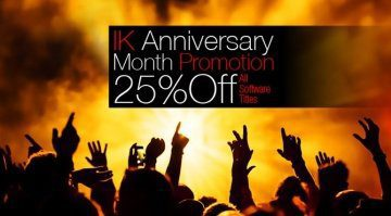 IK Multimedia Anniversary Promo Aktion Teaser